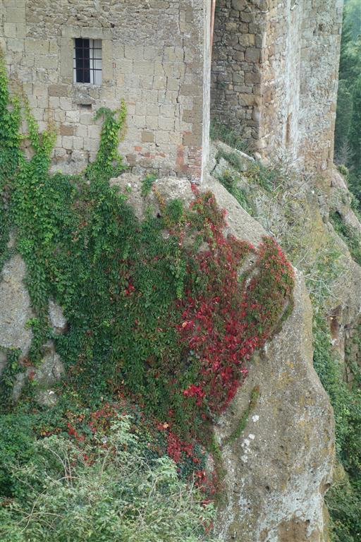 Pitigliano, so verbindet sich das Gebäude mit dem Felsen