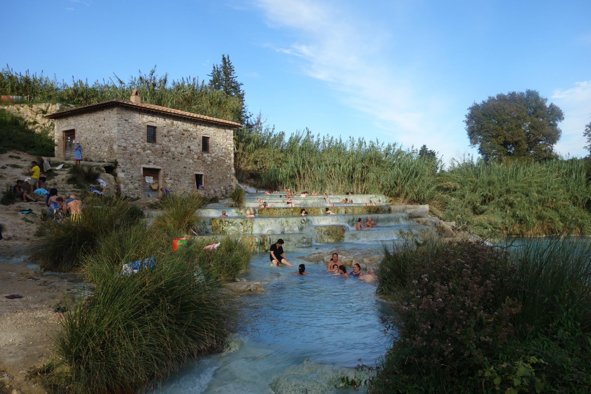 Baden in den Cascate von Saturnia