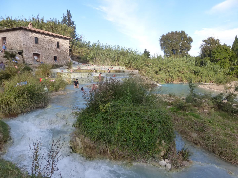 Cascate in Saturnia, wie die Etrusker baden
