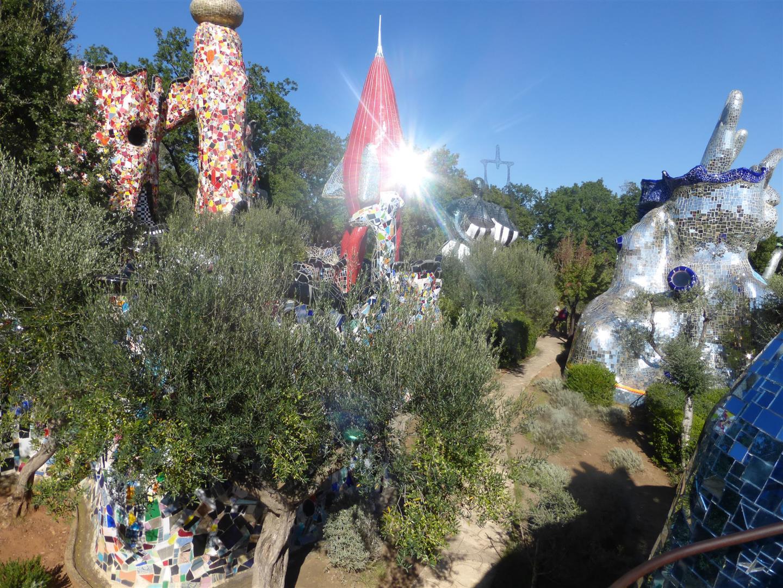 Vergüngen im Tarotgarten der Niki de Saint Phalle in Capalbio