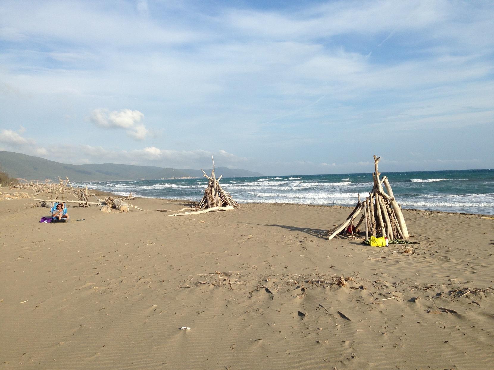 Am unverbauten Strand von Marina di Alberese