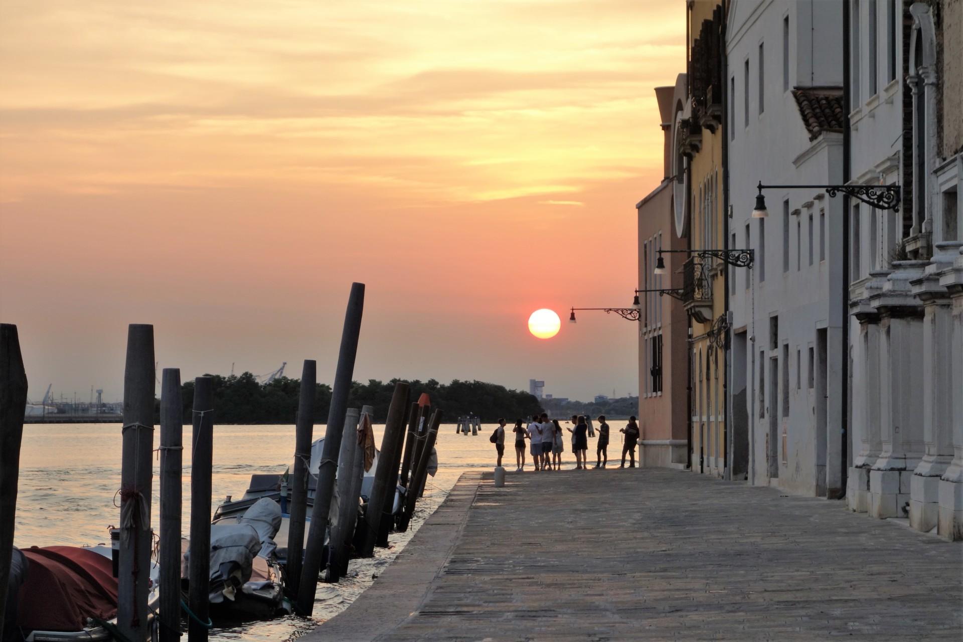 Sonnenuntergang im Westzipfel der Insel
