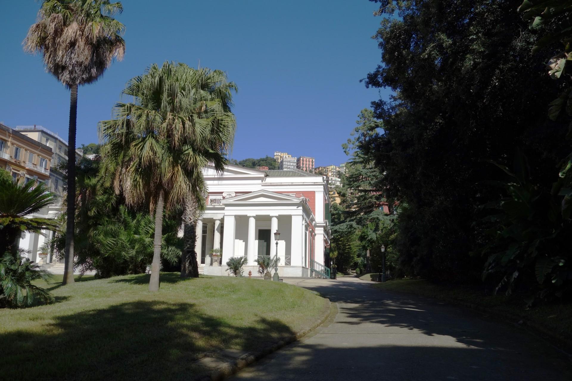 Villa Pignatelli, der erste Anblick