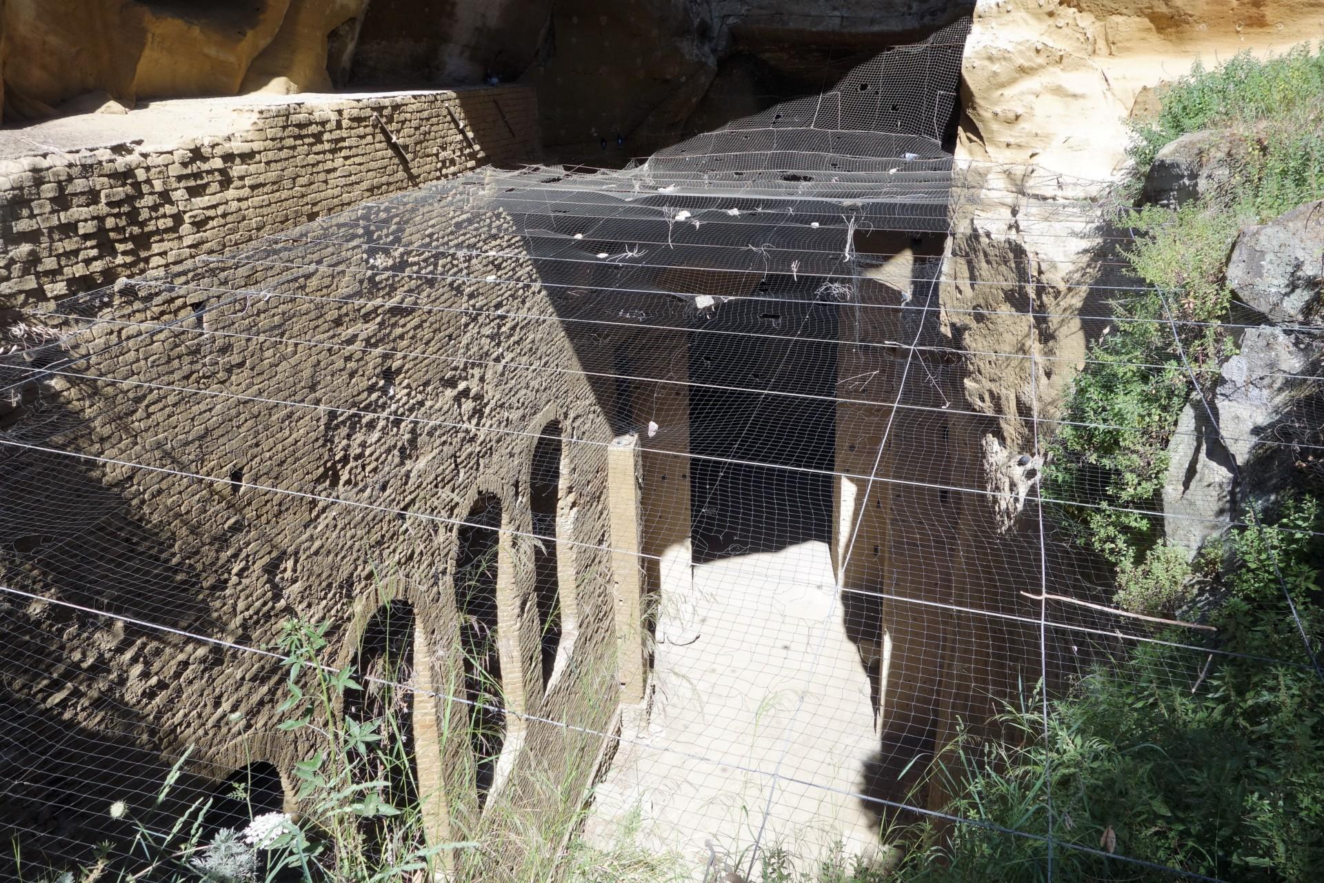 Eine der Galerien, durch die römische Soldaten sich rasch von einem Ort zum anderen bewegten