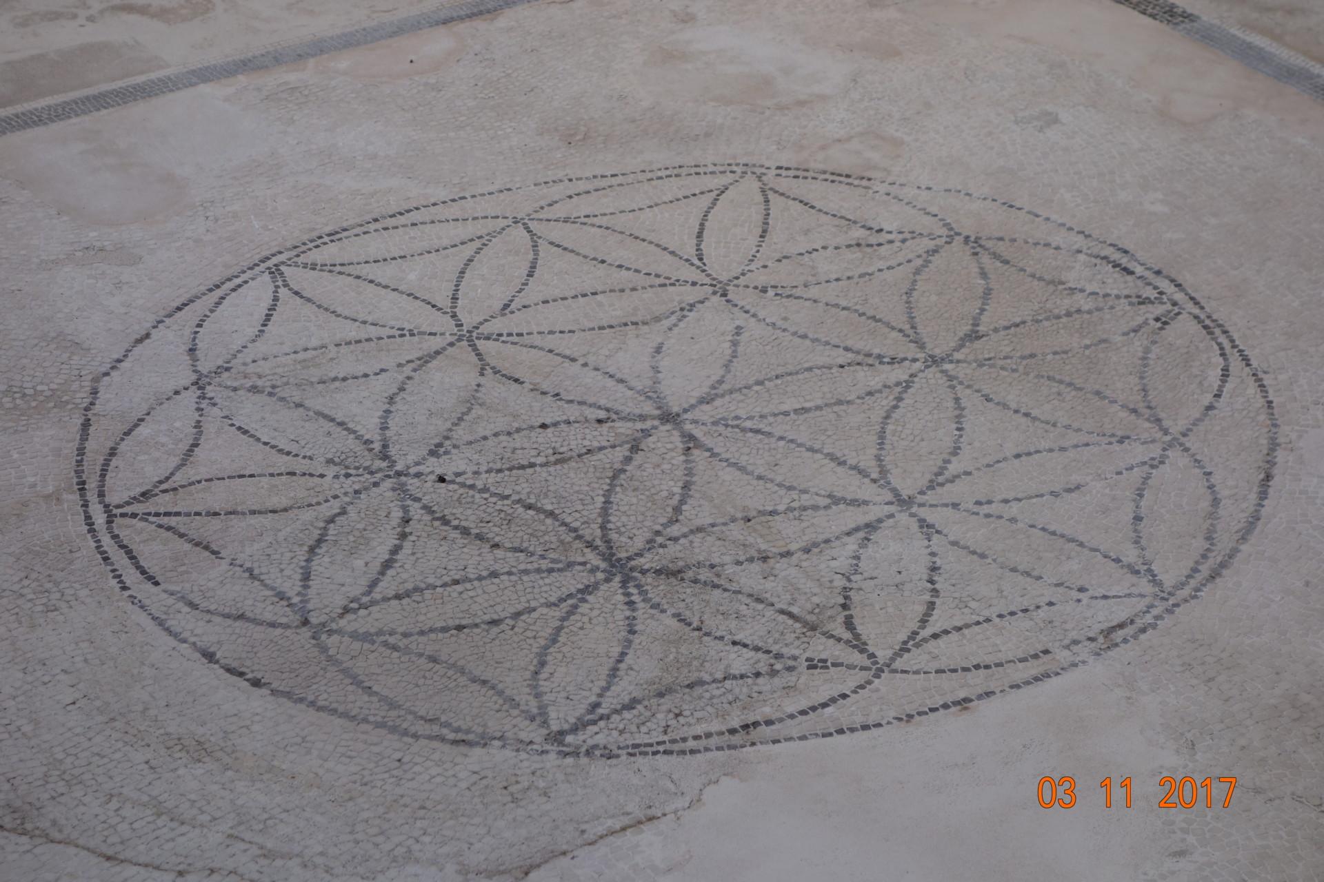 Pompeji, die Blume des Lebens, Bodenmosaik