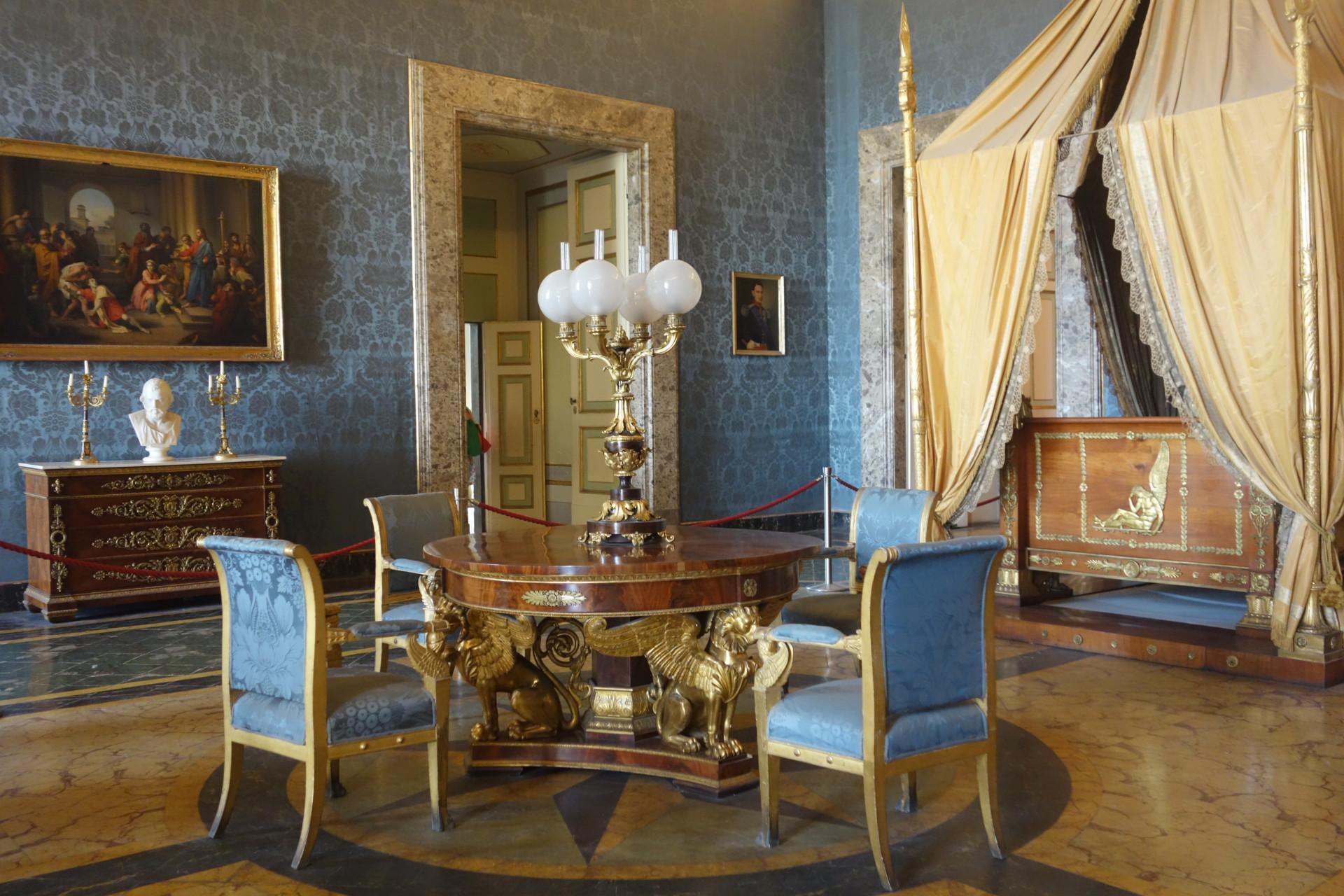 Schlafzimmer in der Reggia di Caserta, m Königspalast