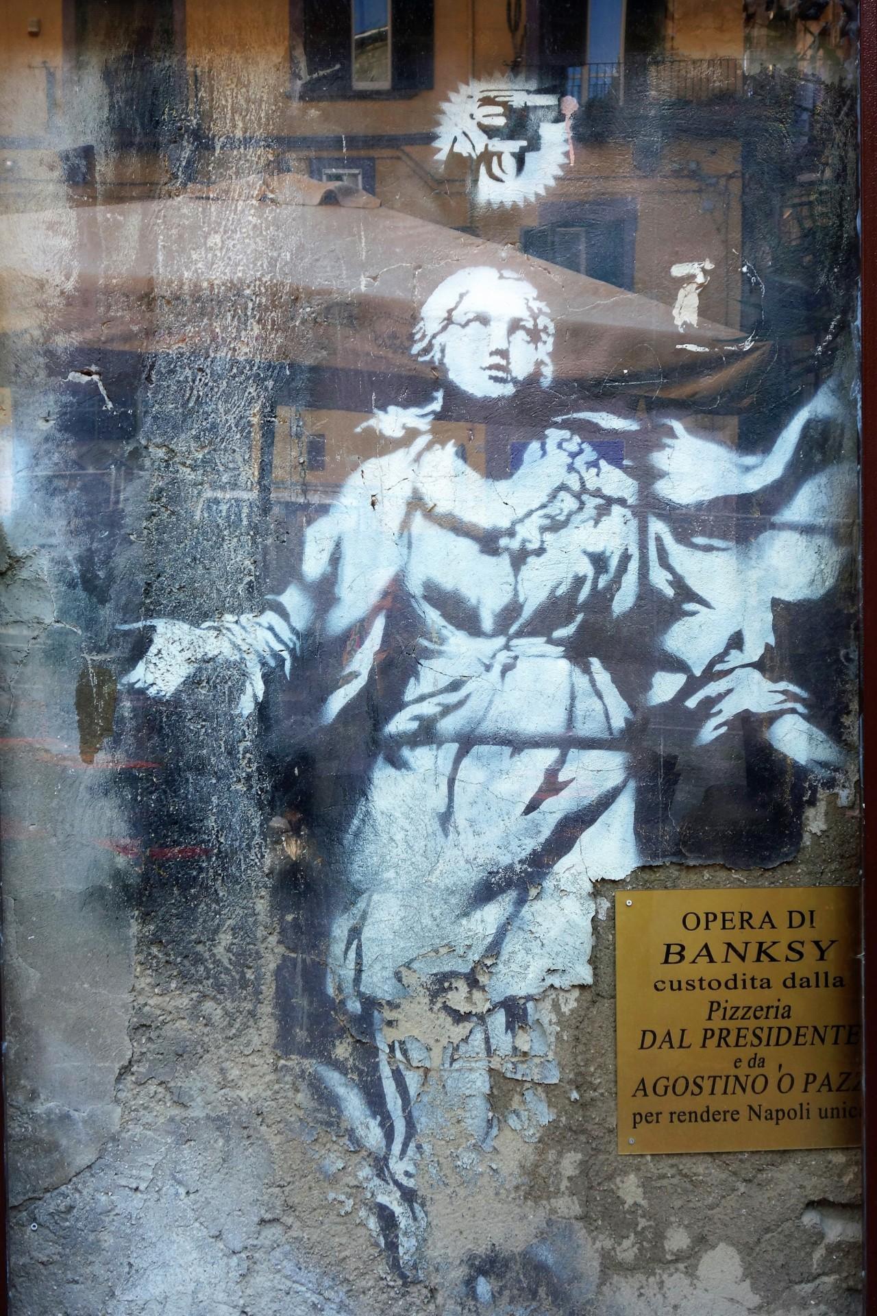 Neapel, Strassenkunst von Bansky, einzigartig