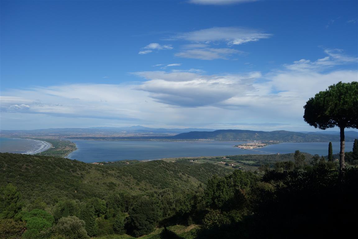 Monte Argentario - Blick auf die Lagunen von Orbetello