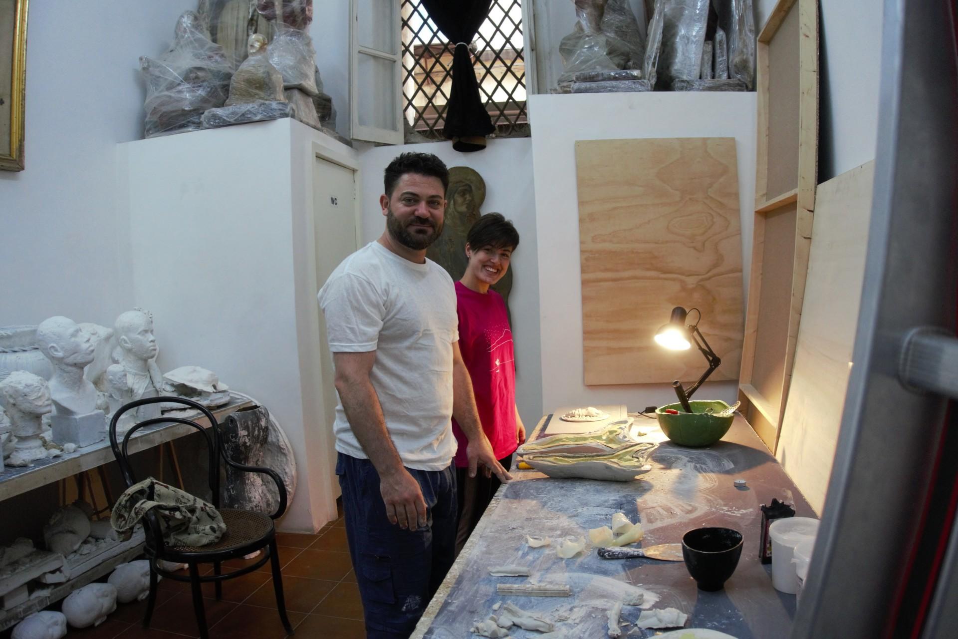 Künstler an der Arbeit SMMAVE im laboratorio