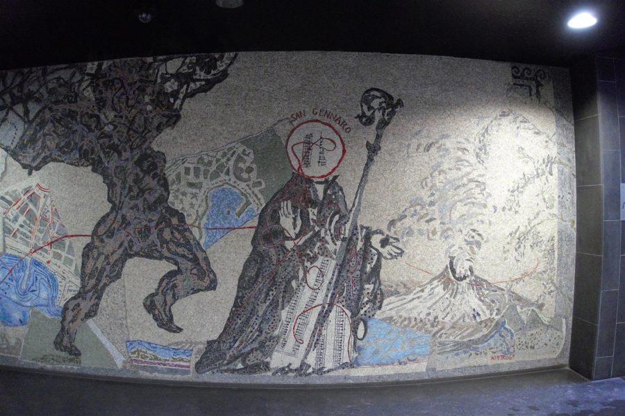 San Gennaro stoppt den Ausbruch des Vesuv