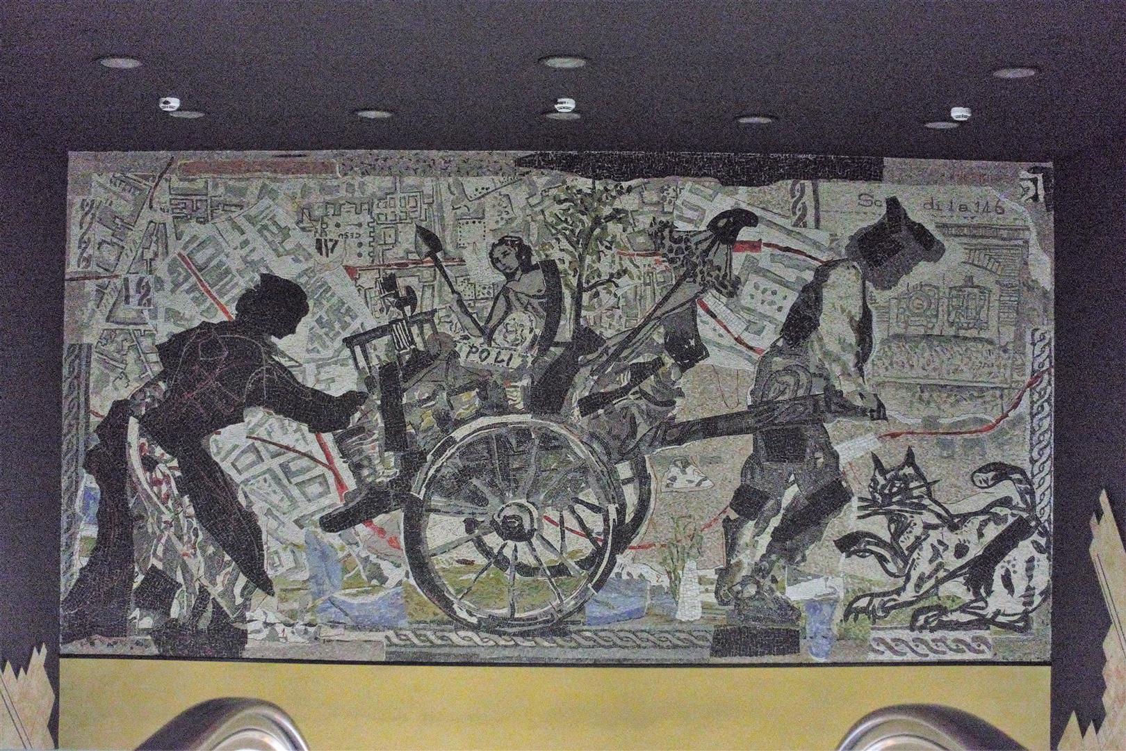 Mosaik von W. Kentridge, die Scherben der Revolution 1799