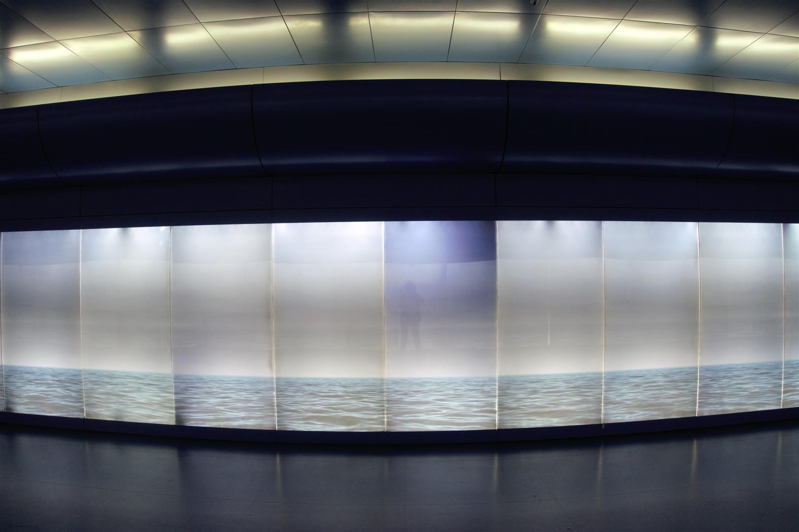 Die Light Boxes von Bob Wilson, das Meer