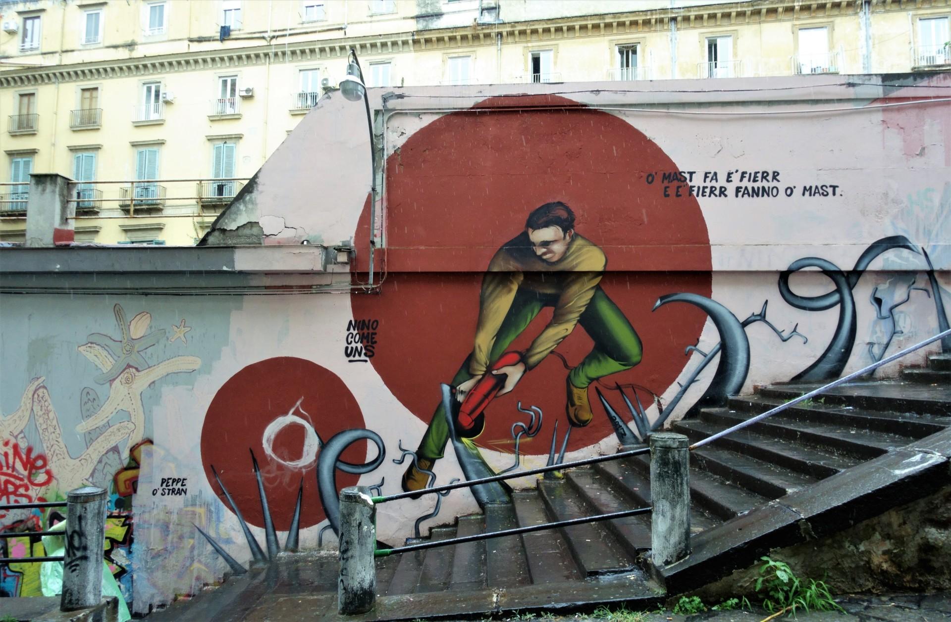 Ohne Worte, Street Art Neapel
