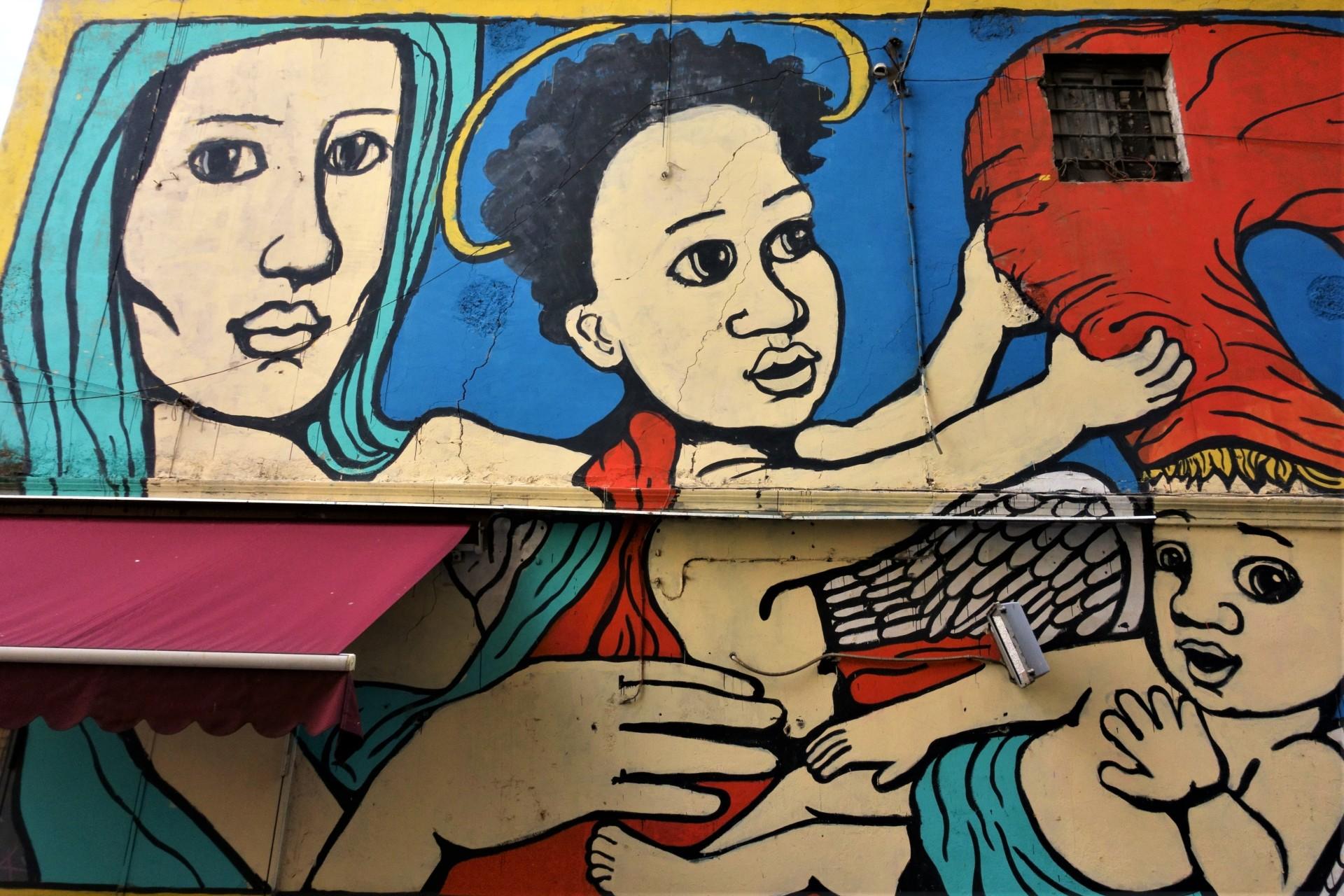 Murale beim Eingang des Rione Sanità