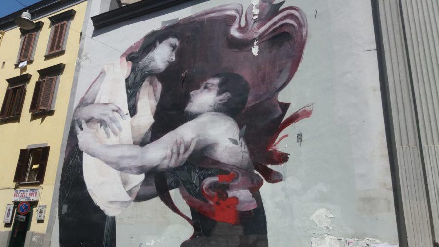 """""""Andi amo"""",Murales von Bosoletti, Sanità"""