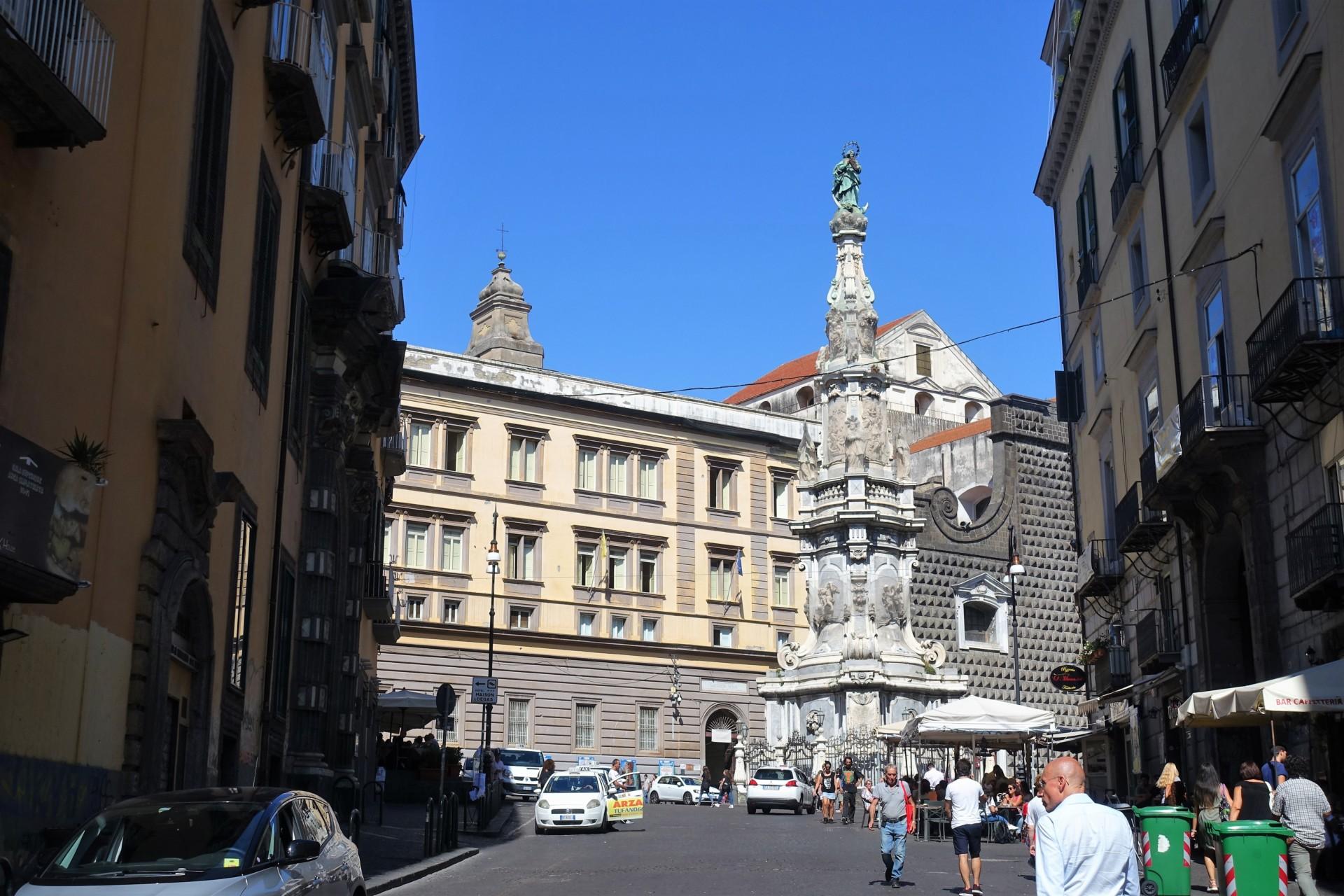 Blick zur Piazza Gesù Nuovo