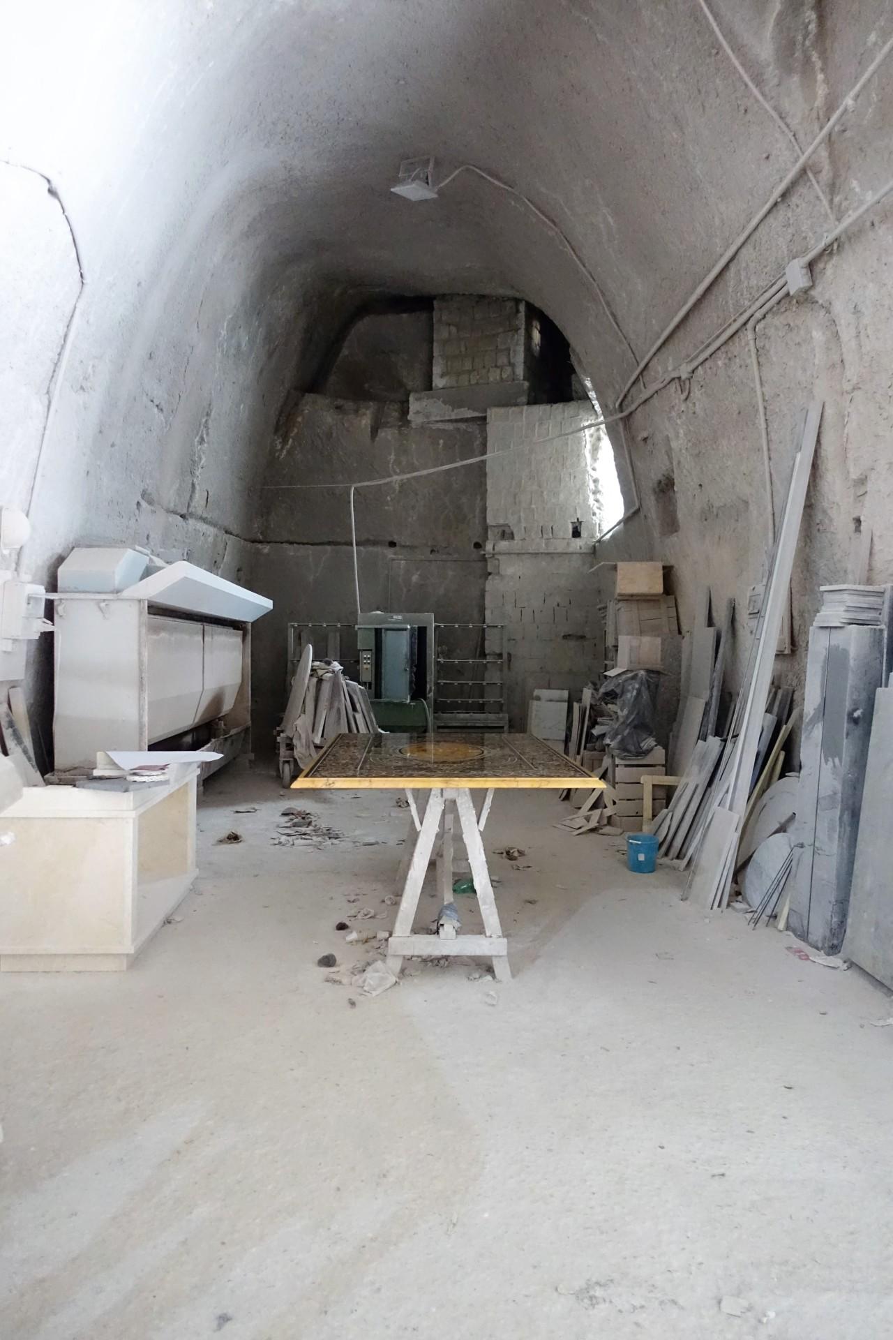 So sieht es in der Grotte der Marmor- Kunsthandwerker aus