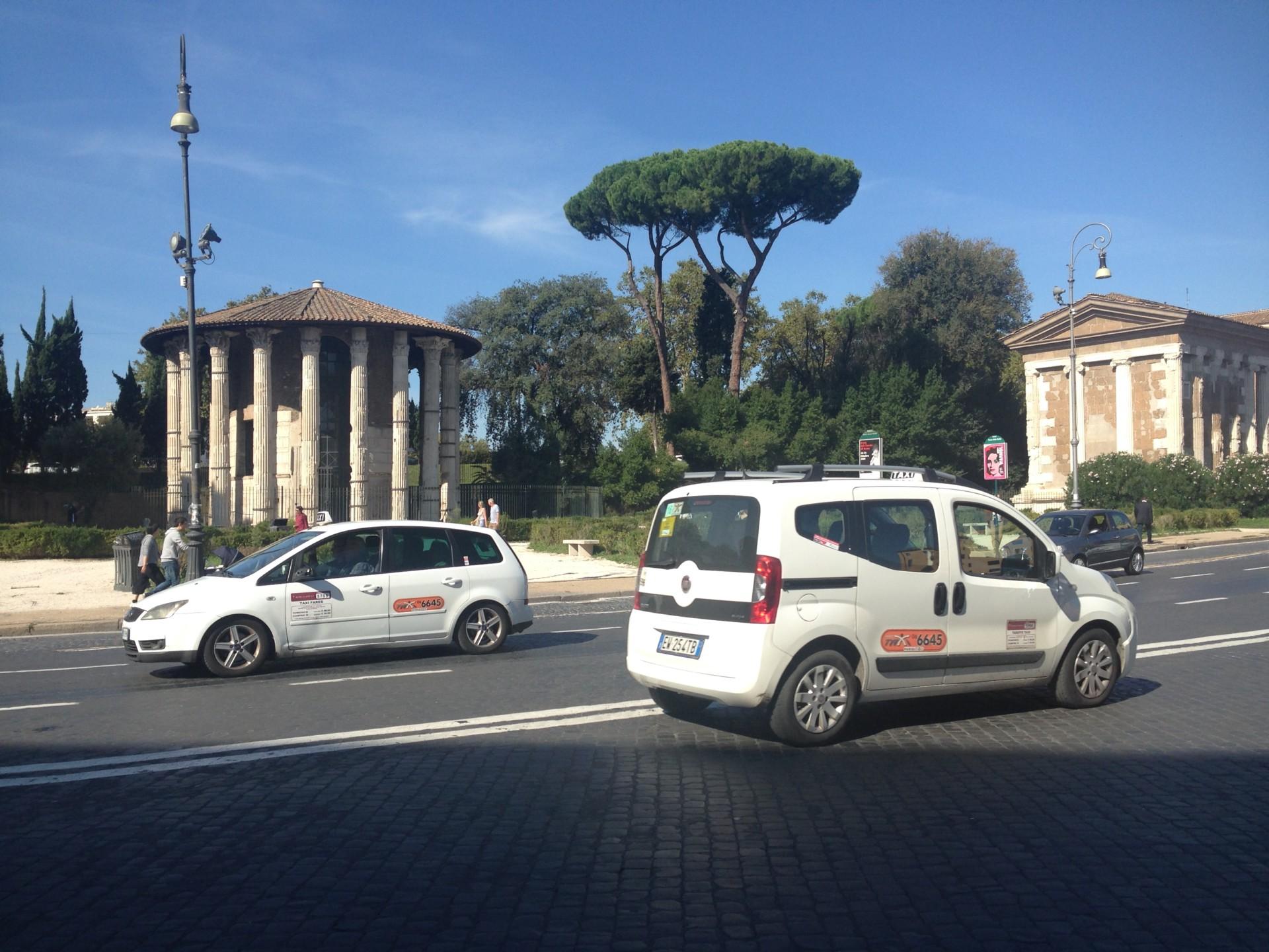 in Rom unterwegs
