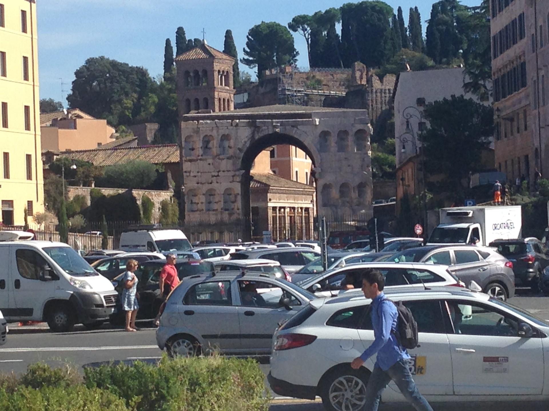 Unterwegs vom Aventin zur 'stazione Termini'
