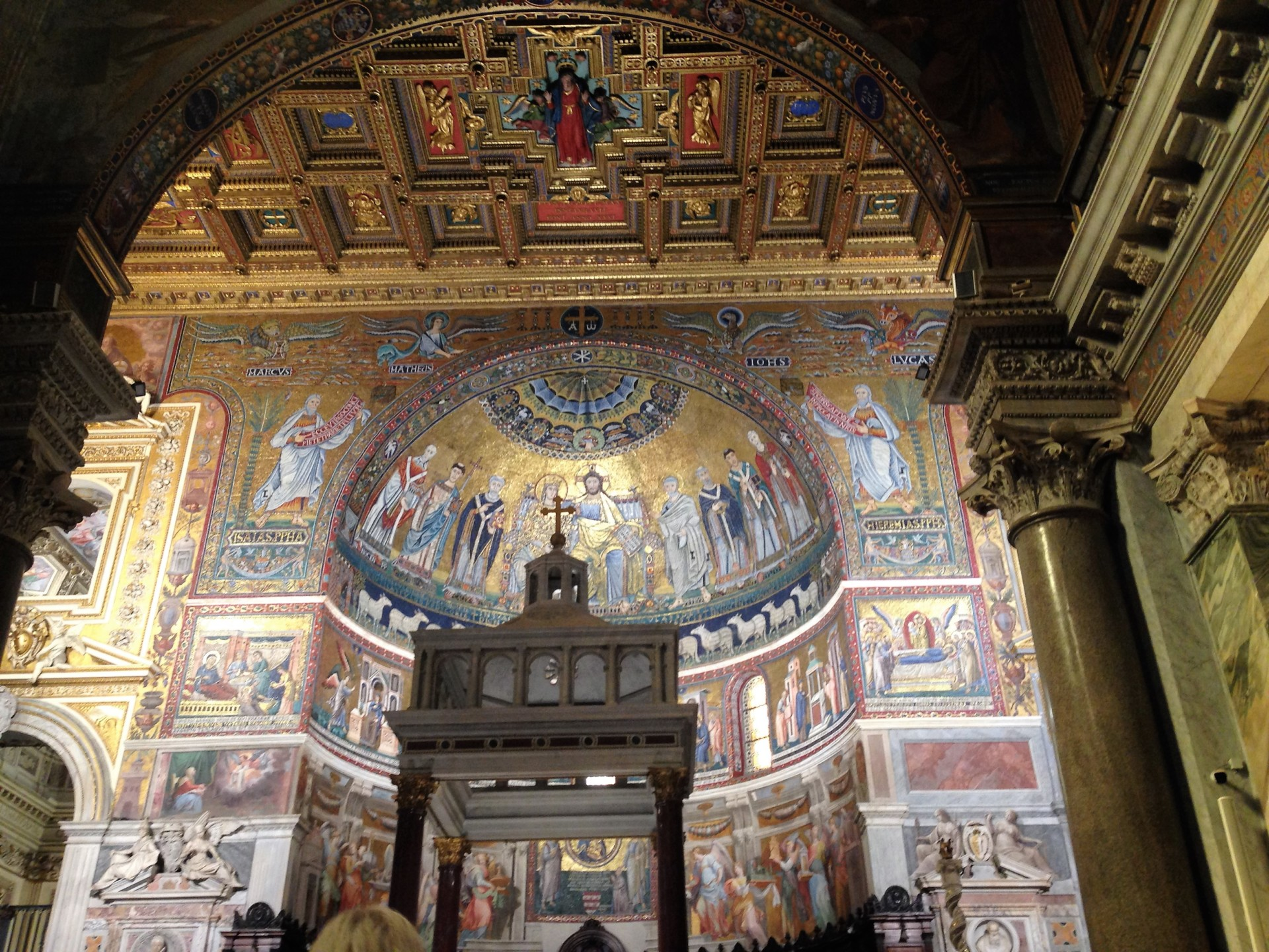 Santa Maria in Trastevere, Mosaik in der Chor-Apsis