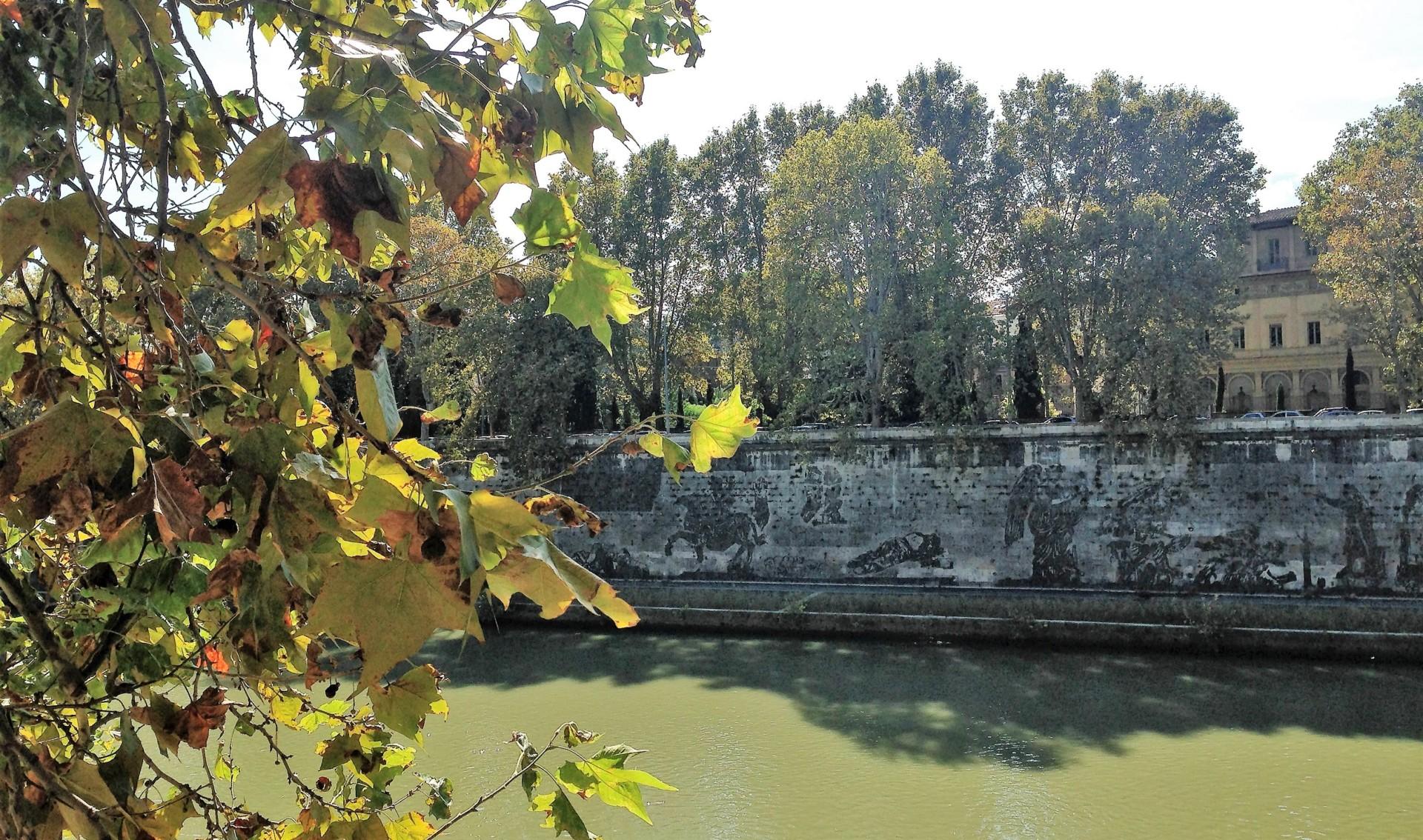 Am Tiberufer, Blick auf das verblassende Werk von William Kentridge