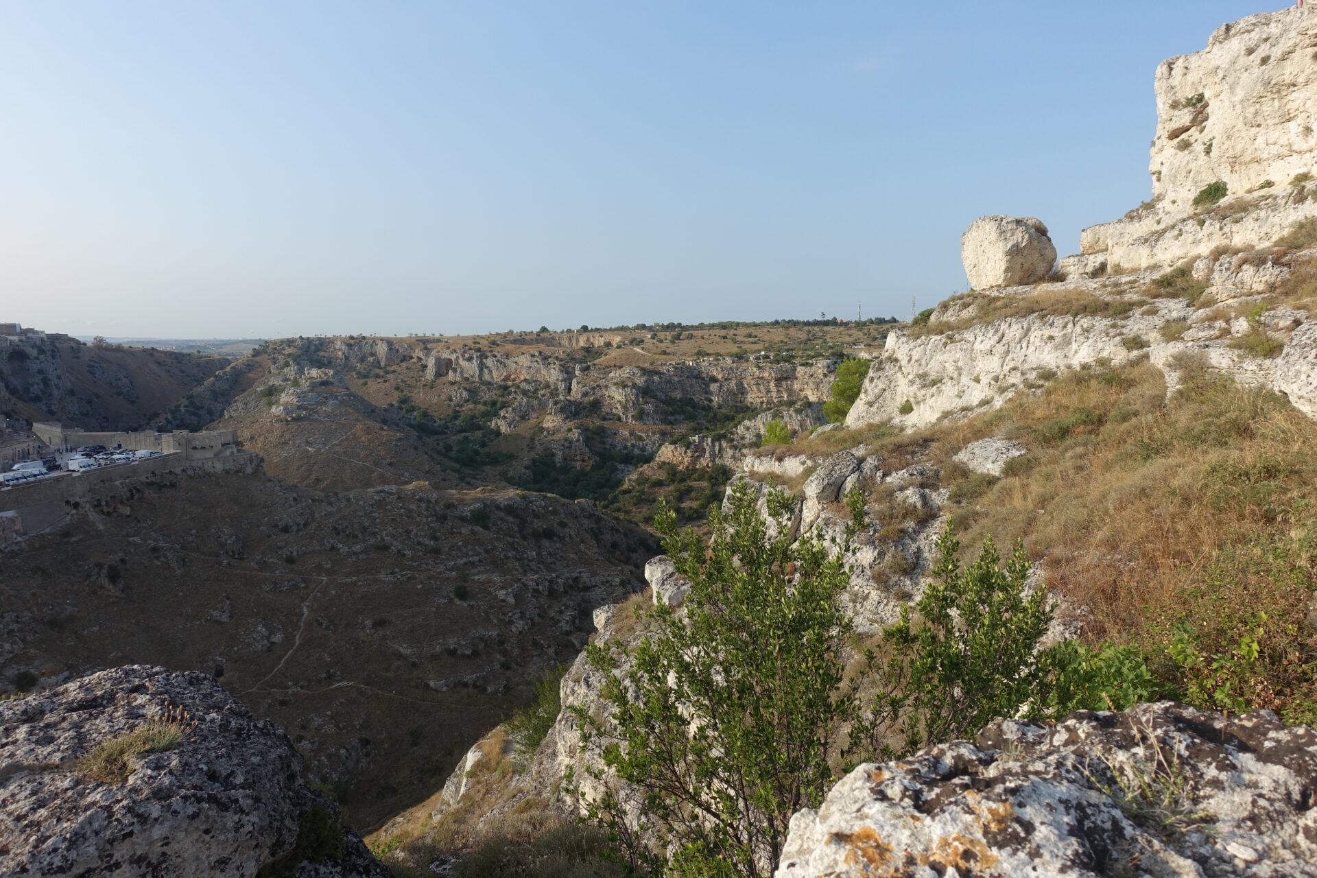 Blick in die Gravina von Matera