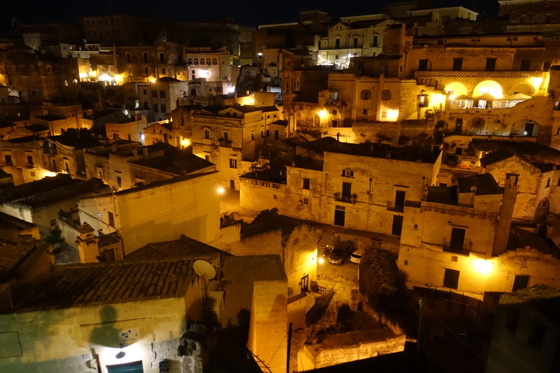 Nachtansicht Matera