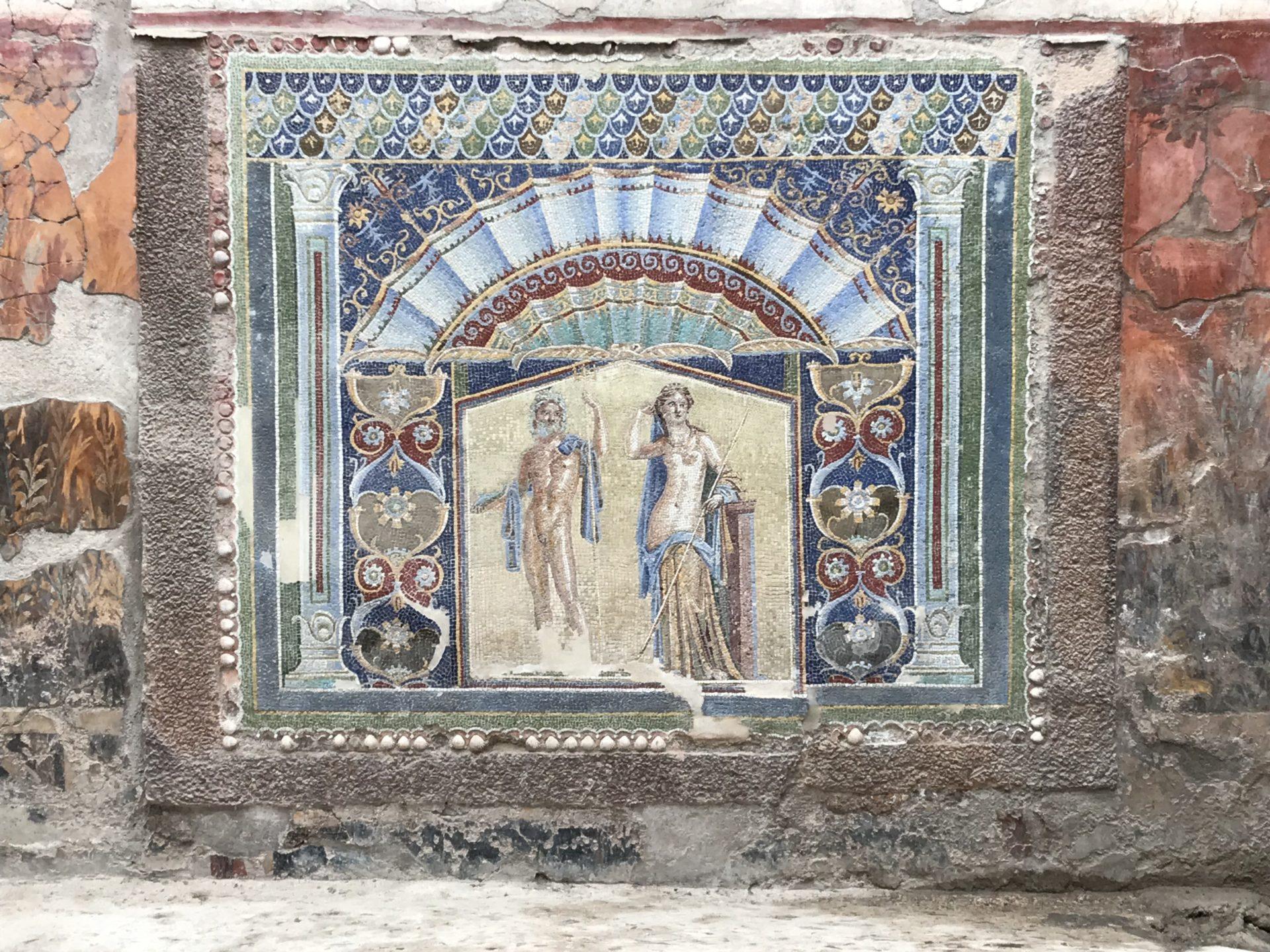 Ercolano, Mosaik in der casa del Nettuno
