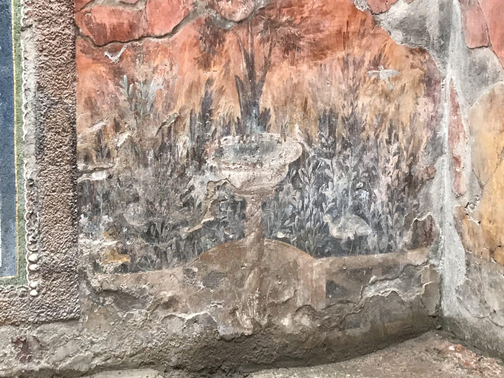 Wandmalerei in der casa del Nettuno