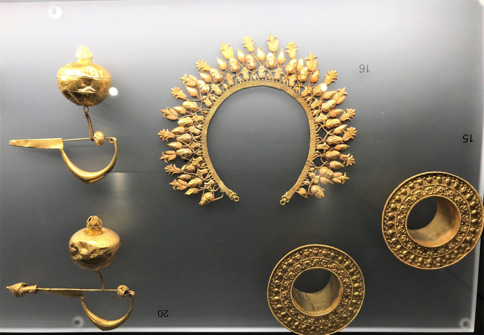 Goldschmuck, griechische Abteilung