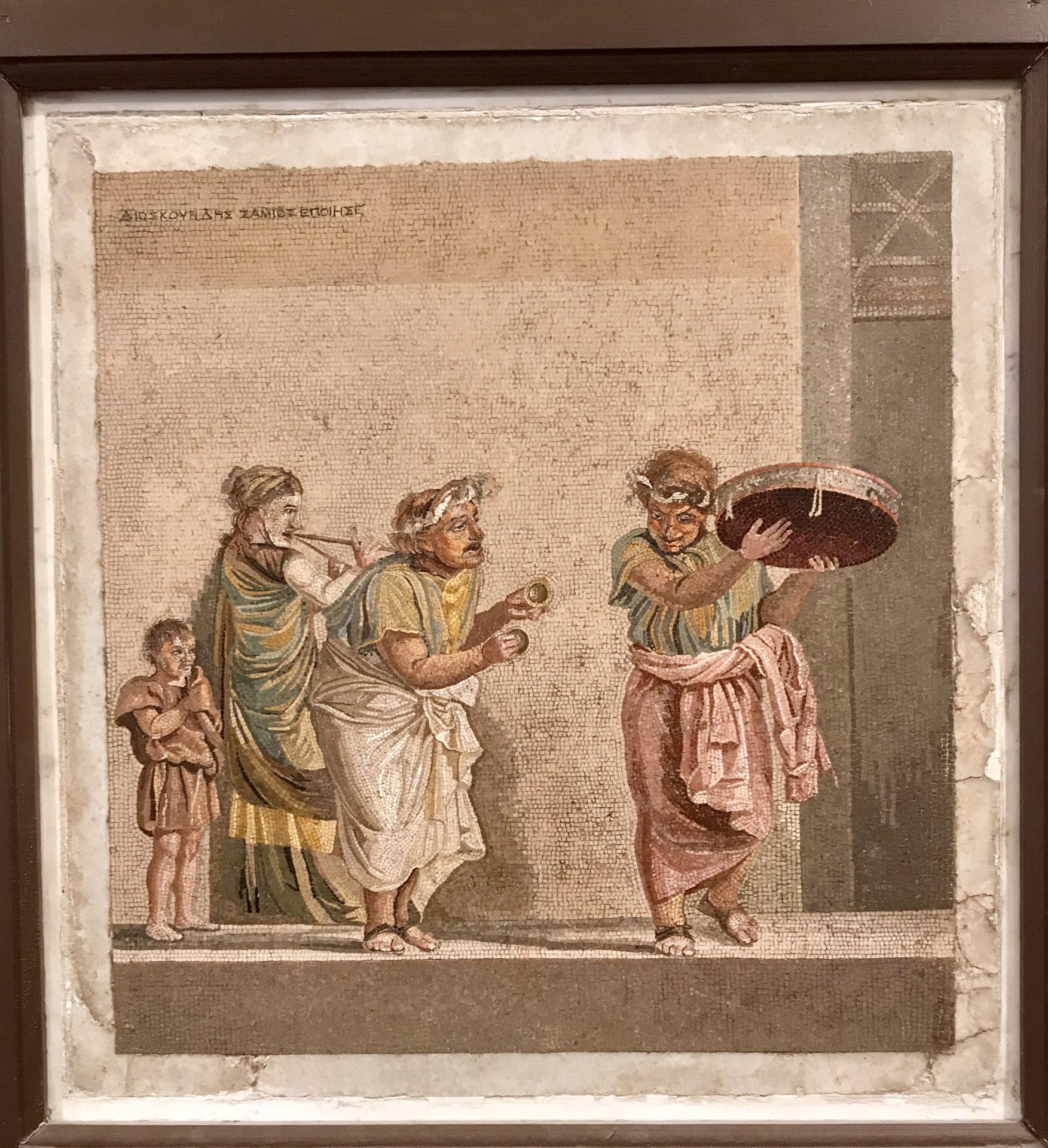 RömischesMosaik, Schausteller, Museo Nazionale