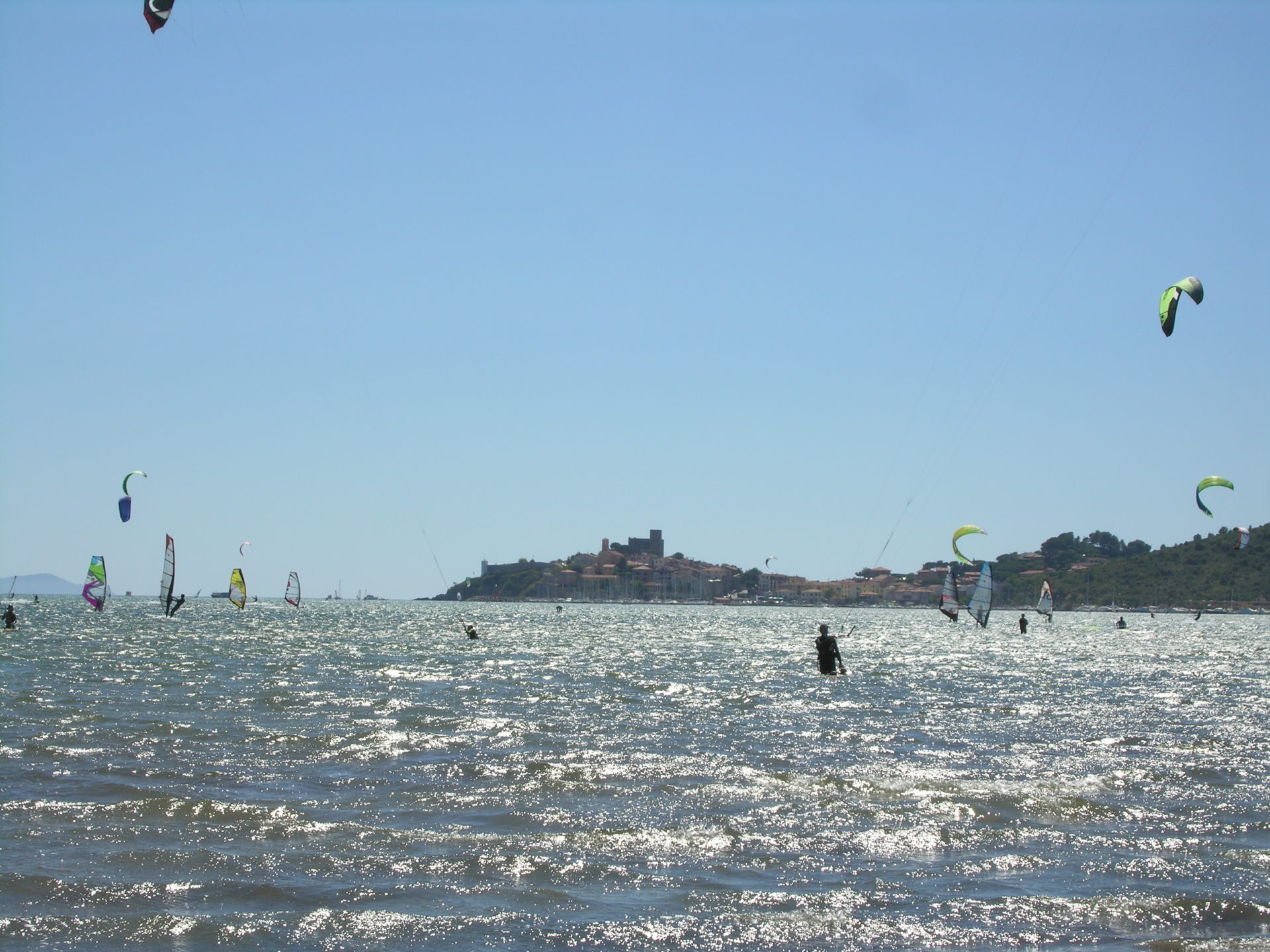 Talamone, Kite-surfing