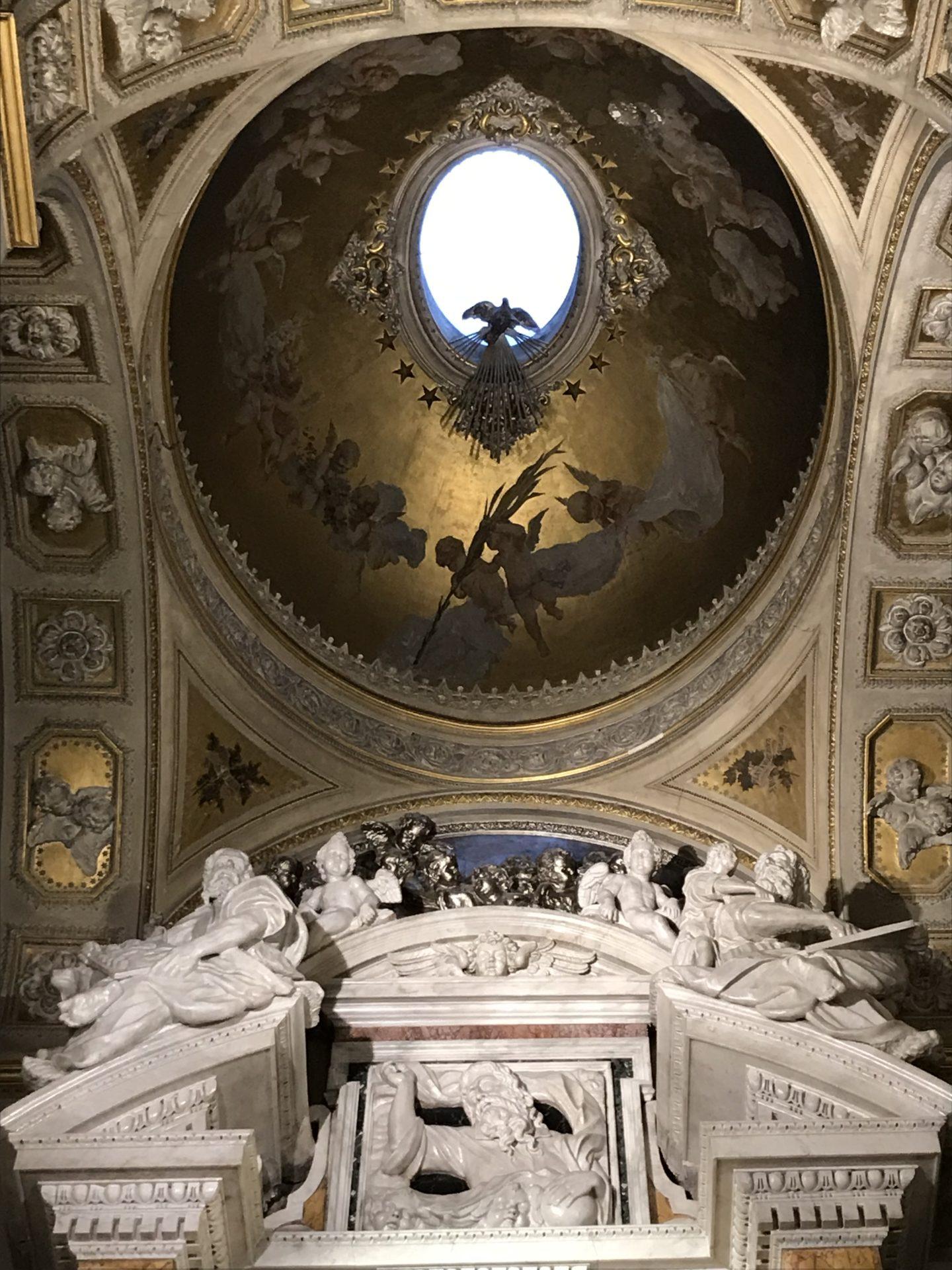 La cupola della cappella di Mamma Schiavona