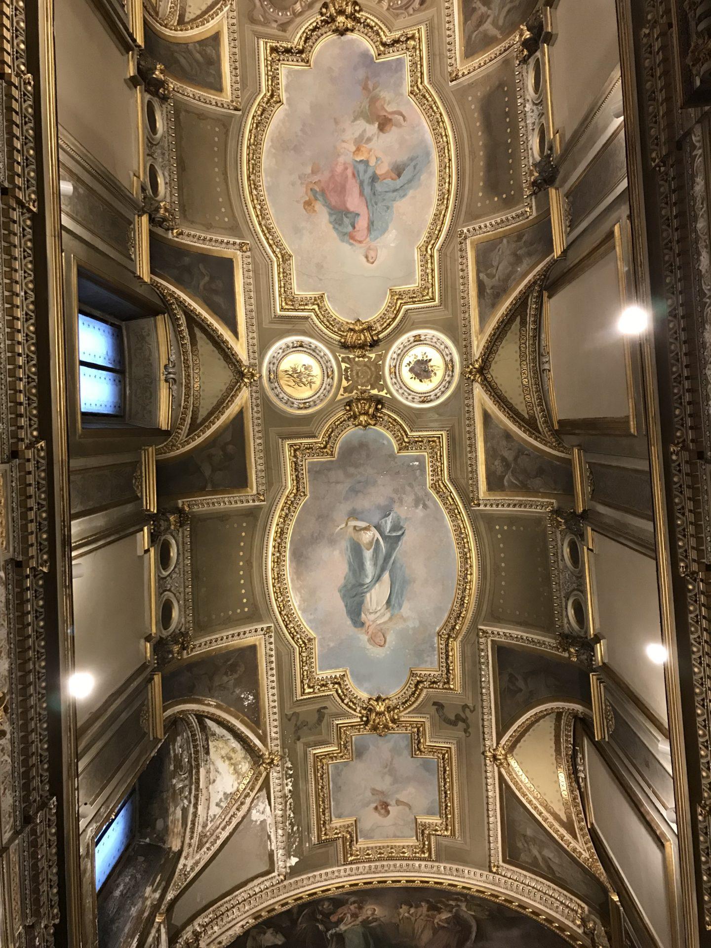 Il soffitto della cappalla della Madonna della Schiavona