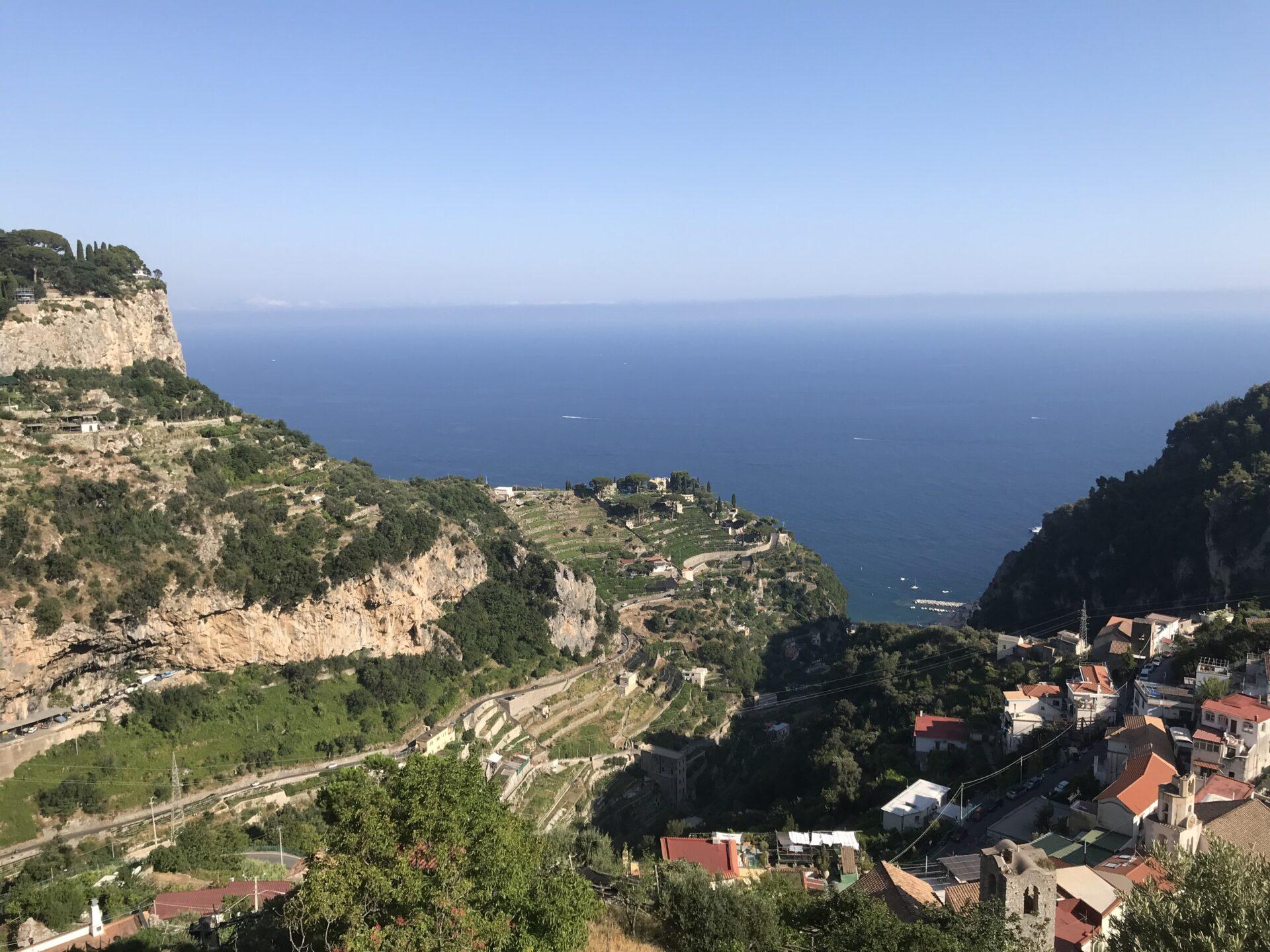 Blick in die Bucht von Atrani