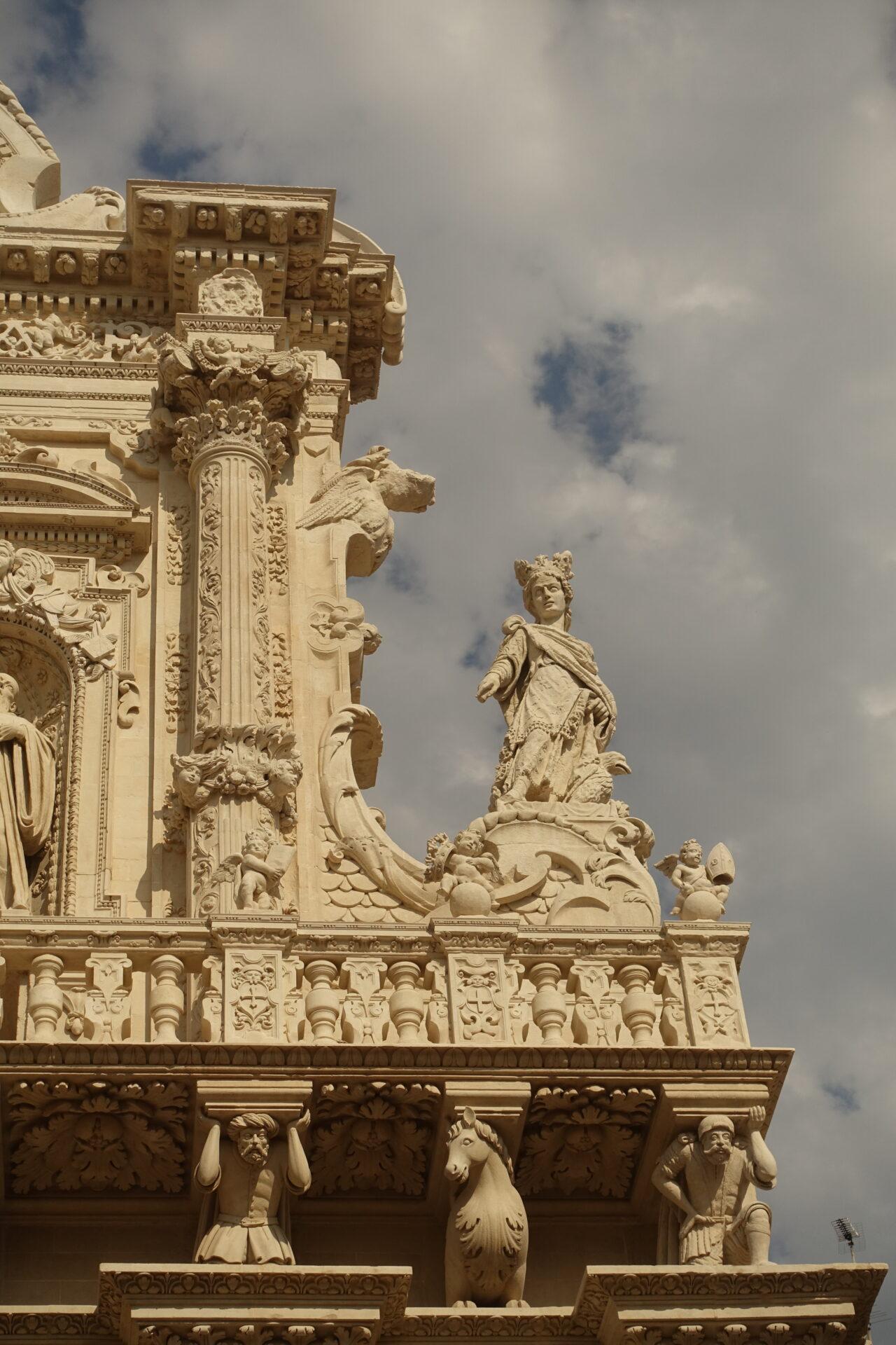 Lecce, Ausschnitt aus der Fassade von Santa Croce